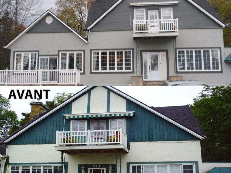 Avant/après en restauration et resurfacage à Laval